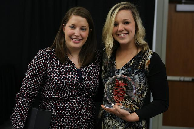 Megan Wuycheck receives award at Student Leaders Luncheon