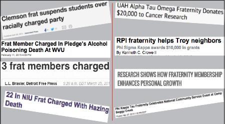 Frat vs. fraternity…..