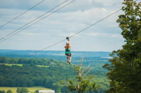 This is one of the three ziplines at Peek'n Peak. The ziplines were just installed last August.