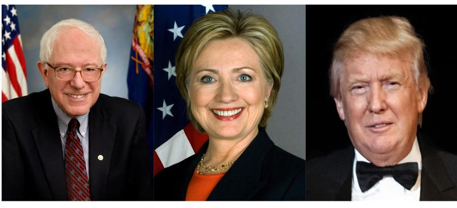Presidential Candidates (From Left to Right) Donald Trump, Hillary Clinton, and Bernie Sanders are three of the top candidates who also happen to be over the age of 65
