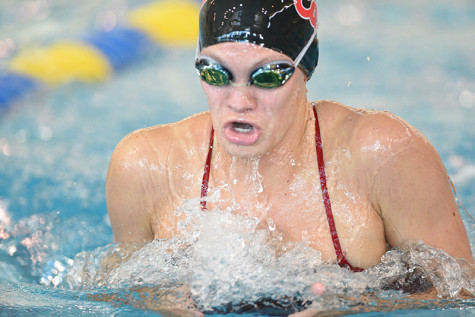 Arganbright enetering her junior season, has become one of the best swimmers in the pSAC and a leader for the Swimming Team here at Cal.