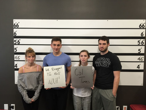 Cal Times Staff Writer Jess Crosson (Third from left) brough some friends along for the heist at the Fifth Street Escape Room located 15 minutes away from Cal U