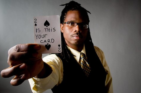 Ran'D Shine, who got his start in magic when he was in graduate school at Penn State University, wowed the crowd with card tricks and mind reading.