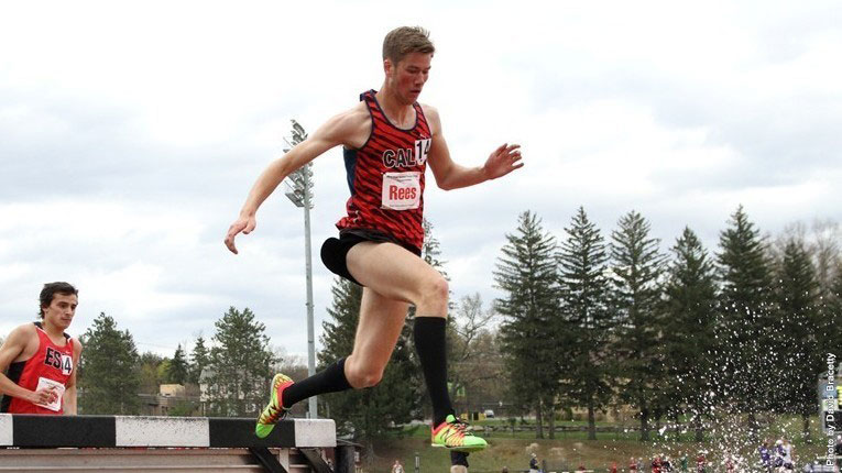 Gabe Rees has qualified for the PSAC Championships with his 3,000-meter steeplecase run of 9:55:.68.