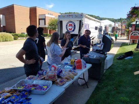 Cal U students gather for free food and voter information at the