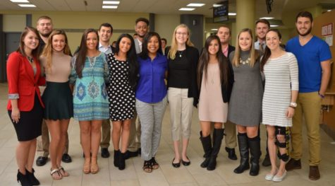 The 2016 homecoming court candidates before the official court was announced.
