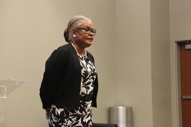 Geraldine M. Jones, Cal U of PA's president.