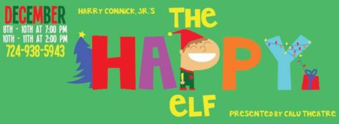 The Happy Elf promotional material was designed by Nick Franczak.
