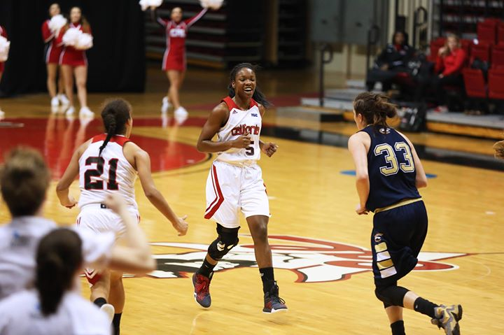 Junior forward Seairra Barrett reached a major milestone tonight, scoring her 1000th point, as the Vulcans defeated the Clarion Eagles 72-38 at the Cal U Convocation Center.