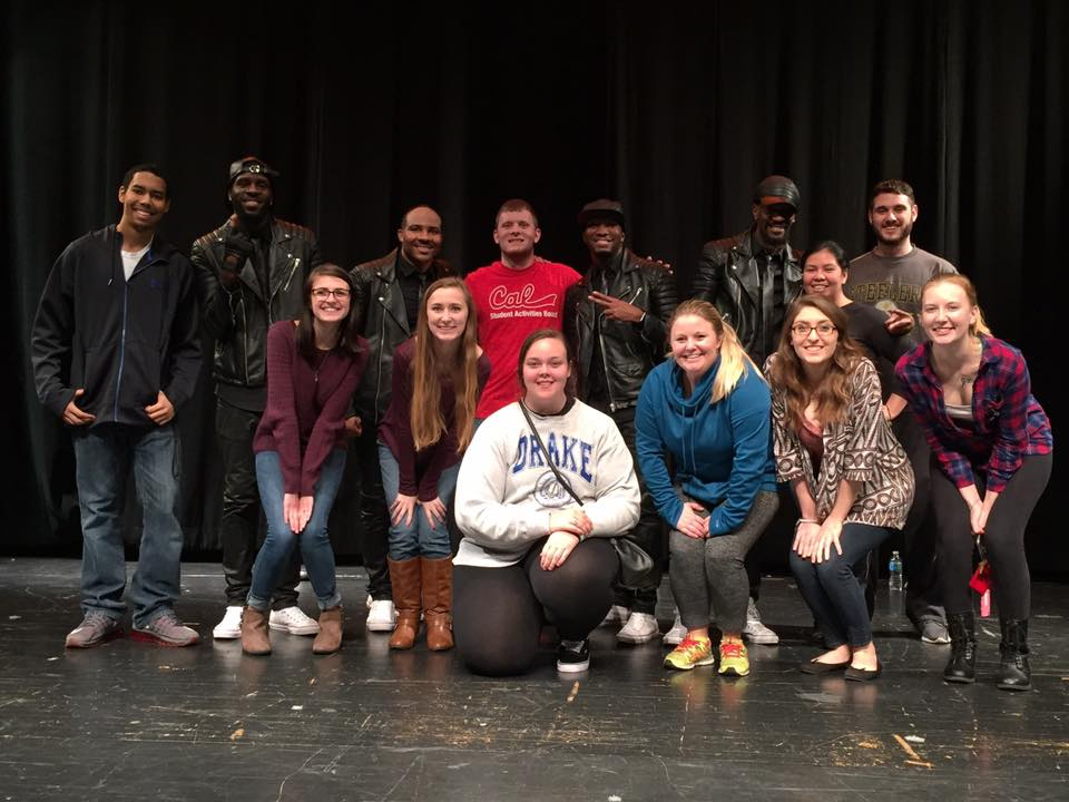 Members from the Student Activities Board with Kazual.