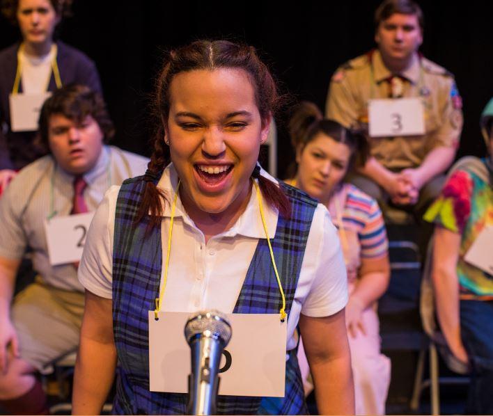 Senior, Amelia Wisinski, performs one last time at Cal U as Marcy Park.