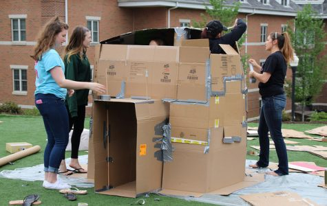 Cal U students create cardboard cities