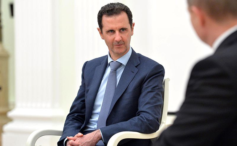 Photo of Syrian president Bashar al-Assad courtesy of Wikimedia Commons.