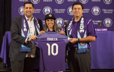 Photo of Marta of the Orlando Pride courtesy of the Associated Press.