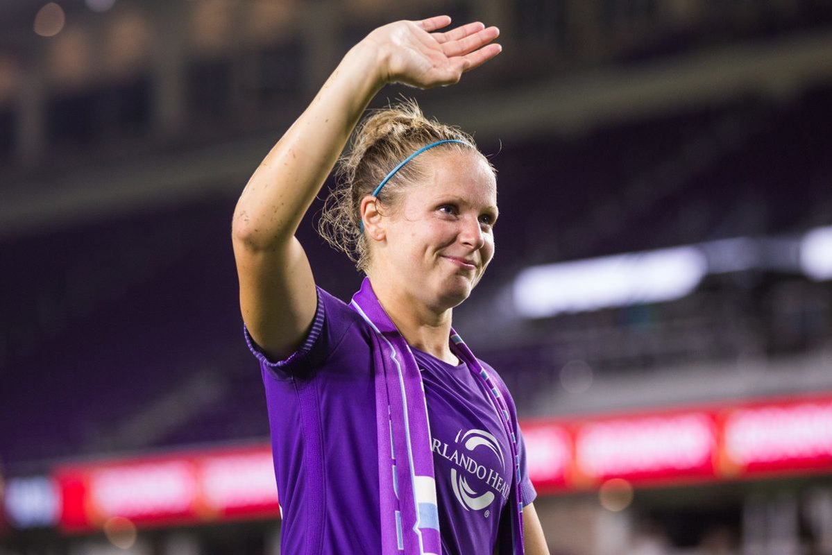 Maddy+Evans%2C+former+member+of+the+Orlando+Pride%2C+announced+her+retirement+last+month+from+the+NWSL.