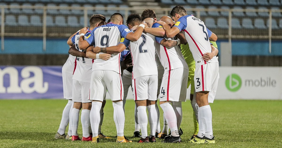 Photo of the U.S. Men's National Team against Trinidad and Tobago courtesy of  John Dorton/U.S. Soccer.