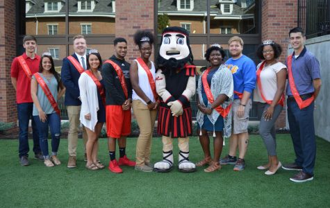 The 2017 Homecoming Court with Blaze.