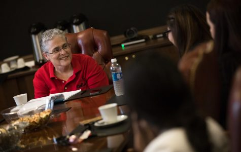 Photo of Interim Chancellor Karen M. Whitney courtesy of Cal U of PA Public Relations.