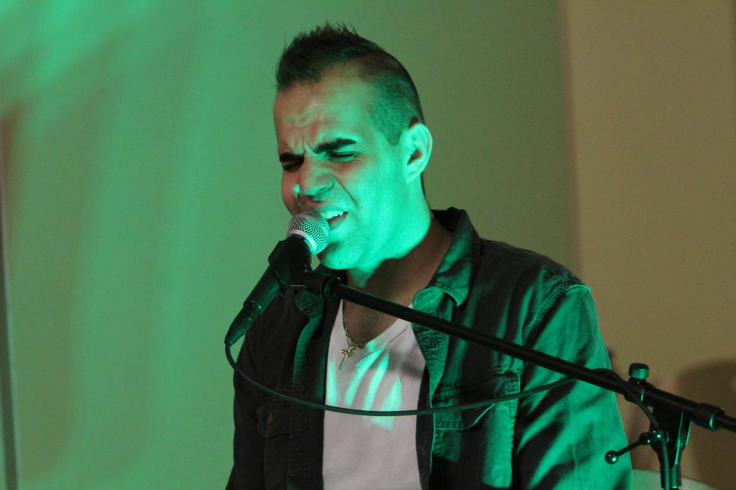 Nick Barilla performs at Underground Cafe on Oct. 12.