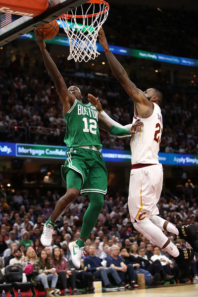 Photo of Lebron James (Cavaliers) and Terry Rozier (Celtics) courtesy of Gregory Shamus/Getty Images.