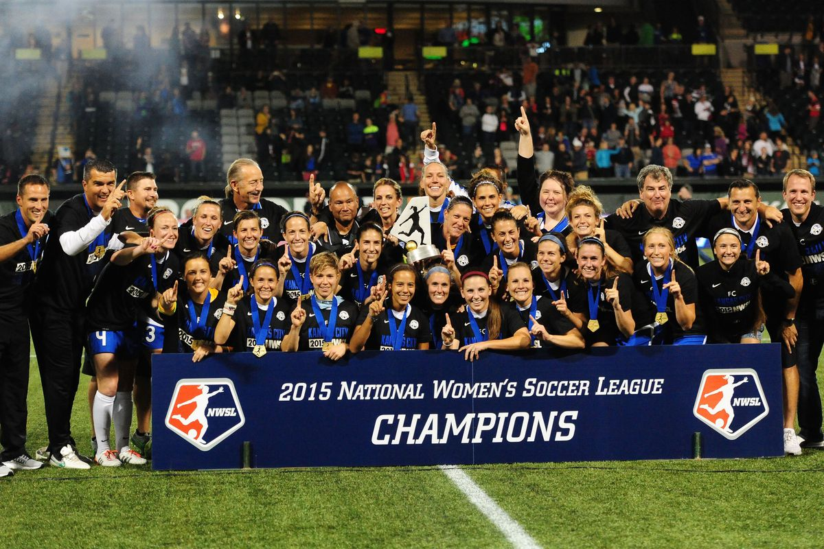 Photo of the 2015 NWSL Champions, FC Kansas City, courtesy of Steve Dykes/Getty Images.