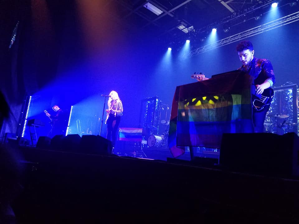 The band PVRIS performed at Stage AE on Feb. 22. Staff writer Shalene Hixon was there to experience the show -- at the front of the crowd!