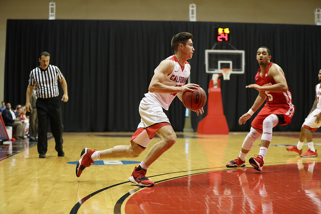 Photo of sophomore guard Jordan Gessner courtesy of Jeff Helsel, SAI.