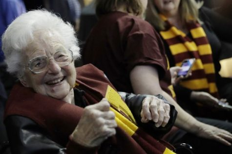 Photo of Sister Jean courtesy of David Goldman/Associated Press.