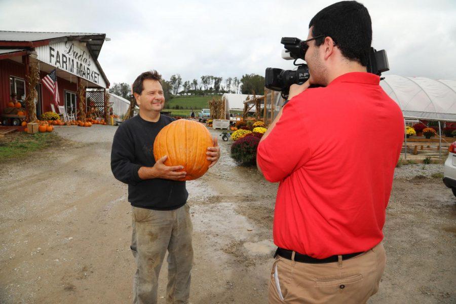(Sept. 26, 2018) CUTV Reporter Tom Caton interviews Mr. Duda at Duda's Farm in Brownsville, Pa.
