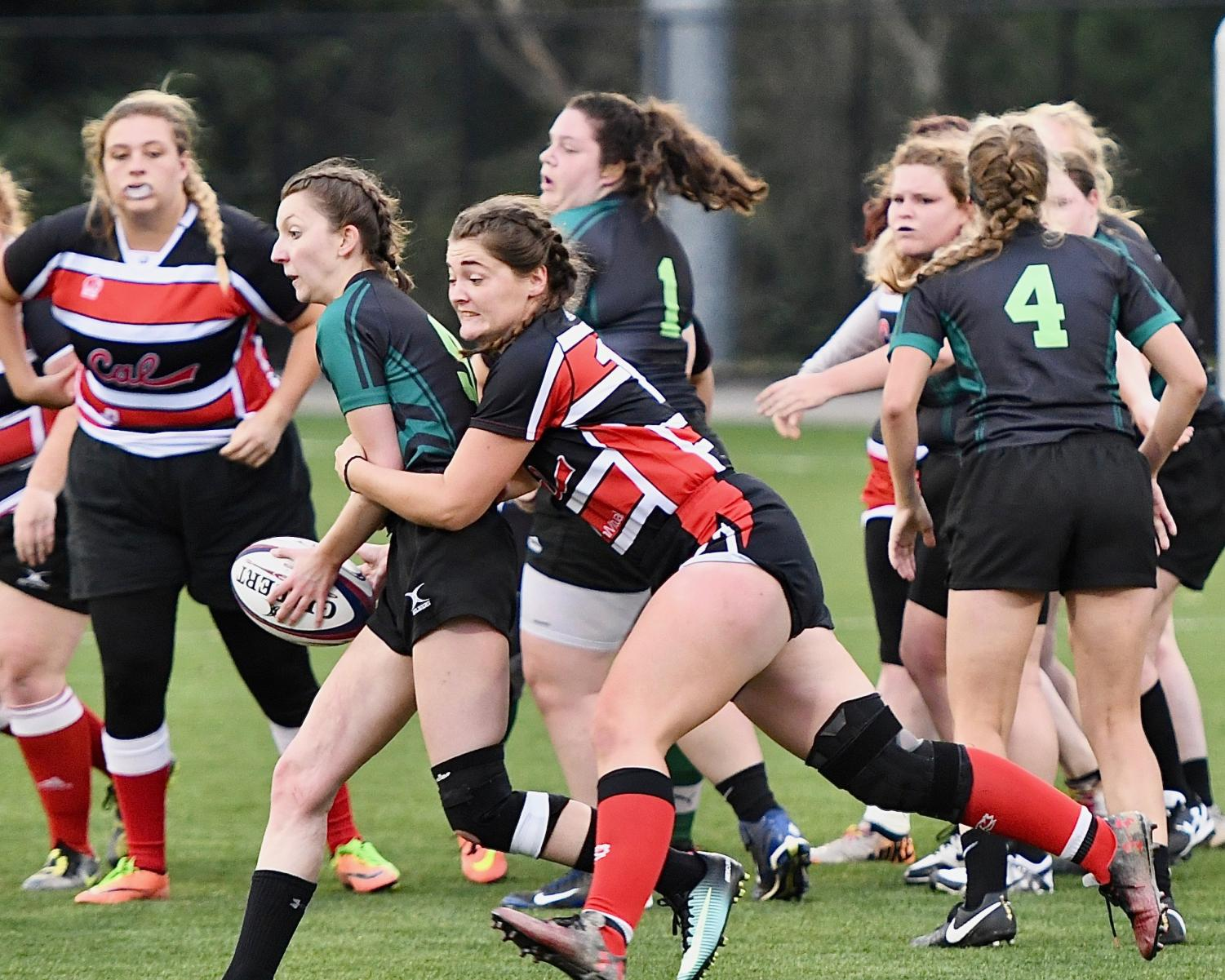 (Sept. 22) Cal U women's rugby team defeats St. Vincent at home 55-0