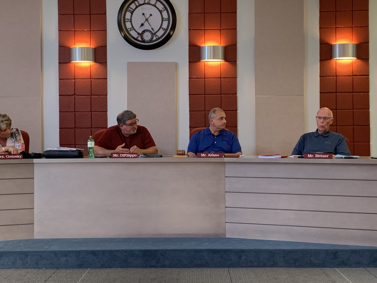 California Borough Council members at the monthly meeting, August 8, 2019