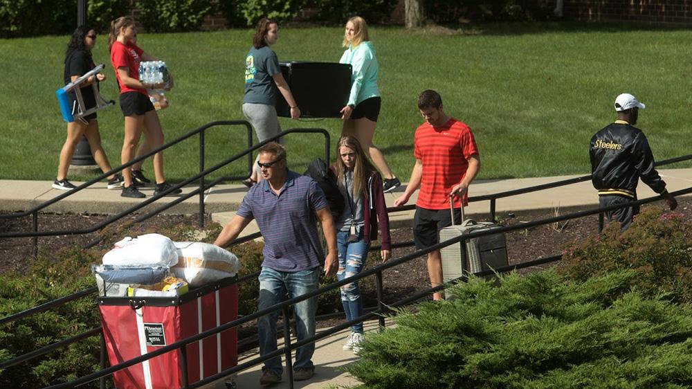 Move-in Day at California University of Pennsylvania