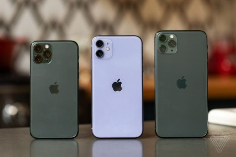 (From left to right), iPhone 11 Pro, iPhone 11, and iPhone 11 Pro Max