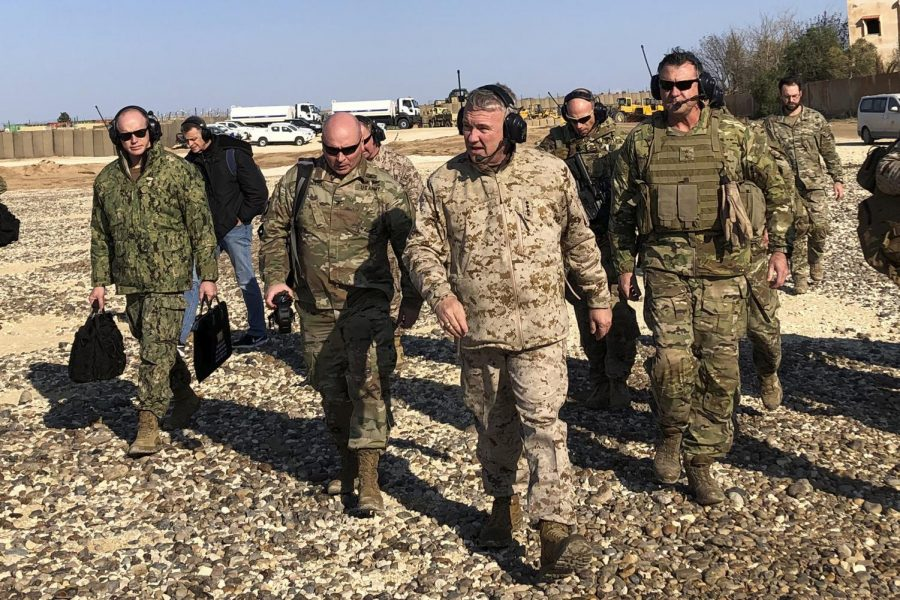 Gen.+Frank+McKenzie%2C+center+front%2C+the+top+U.S.+commander+for+the+Middle+East%2C+walks+as+he+visits+a+military+outpost+in+Syria%2C+Saturday%2C+Jan.+25%2C+2020.+McKenzie+made+the+unannounced+visit+to+Syria%2C+traveling+to+five+different+military+outposts+to+meet+with+troops%2C+hear+from+commanders+and+talk+with+the+leader+of+the+Syrian+Democratic+Forces.+%28AP+Photo%2FLolita+Baldor%29