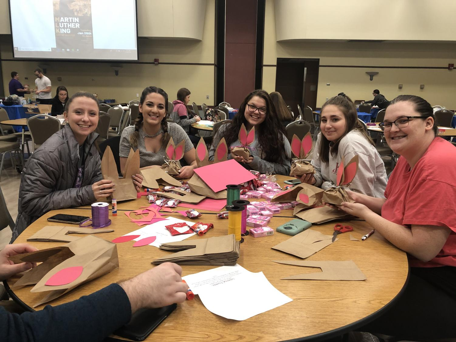 Members of Sigma Kappa sorority participate in Cal U's