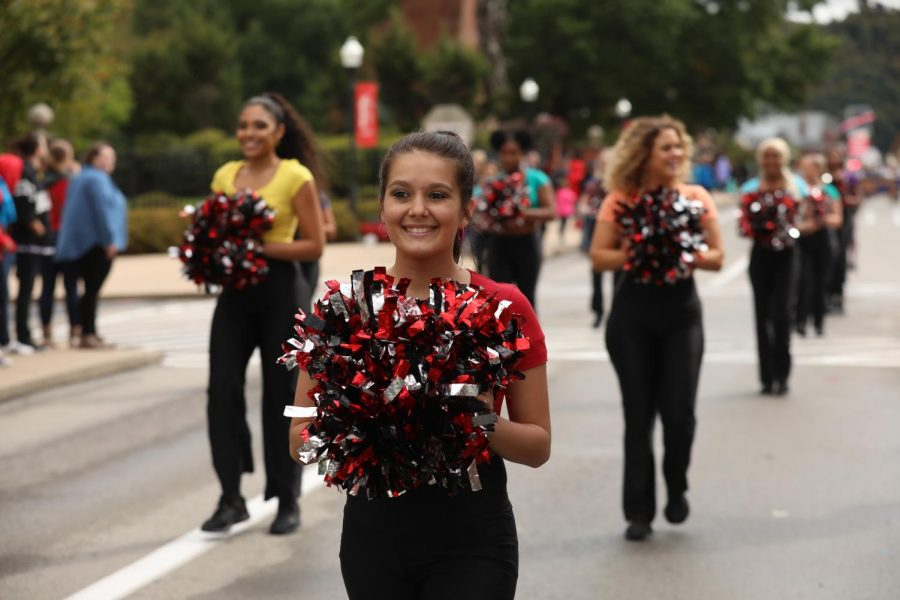 The Cal U Dance Team appearance in the Homecoming Parade, Oct. 12, 2019.