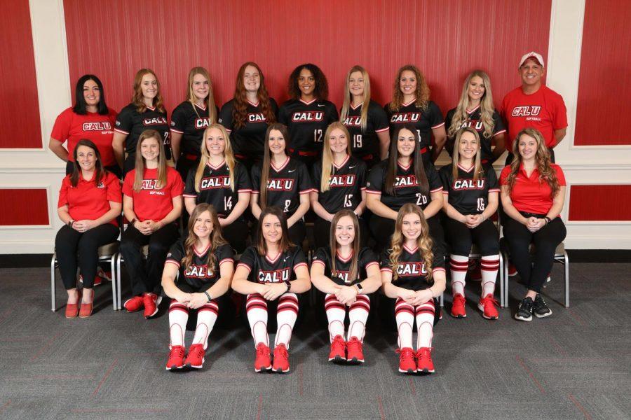The+California+University+of+Pennsylvania+softball+team+2020