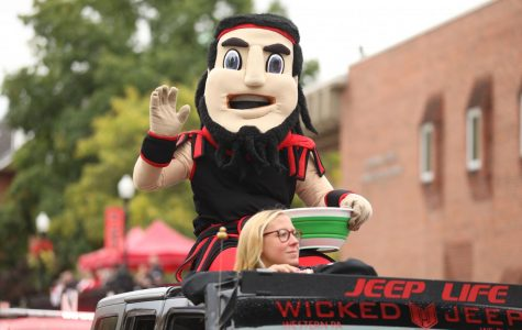 Blaze, mascot of the Cal U Vulcans