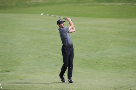 (FILE) Ryan Smith, Cal U men's golf team, at the NCAA Atlantic/East Region Championships at Totteridge Golf Club, Greensburg, Pa. on May 9, 2019.