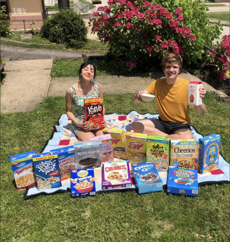 Michelle (Meesh) Polando and Jeromy Mackey sample 15 breakfast cereals in one sitting!