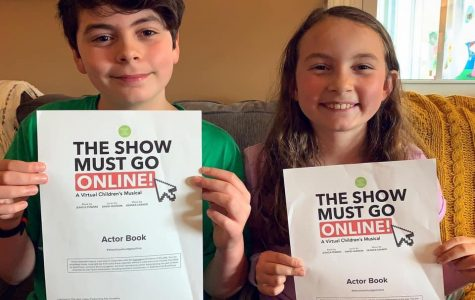11-year-old Holden and 8-year-old Eva Kelly of California, Pa., prepare for The Show Must Go Online which premiers online through Facebook on June 12.