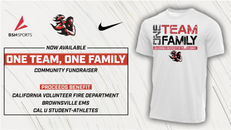 "Athletics launches ""One Team One Family"" fundraiser to benefit local fire dept., EMS, and Cal U student-athletes"