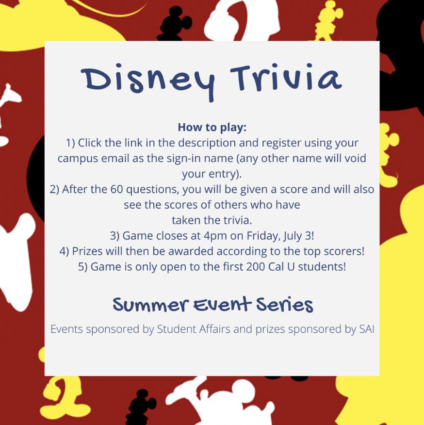 Summer series: Disney Trivia!