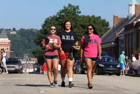 Move-in Day at California University of Pennsylvania, Aug. 24, 2018.