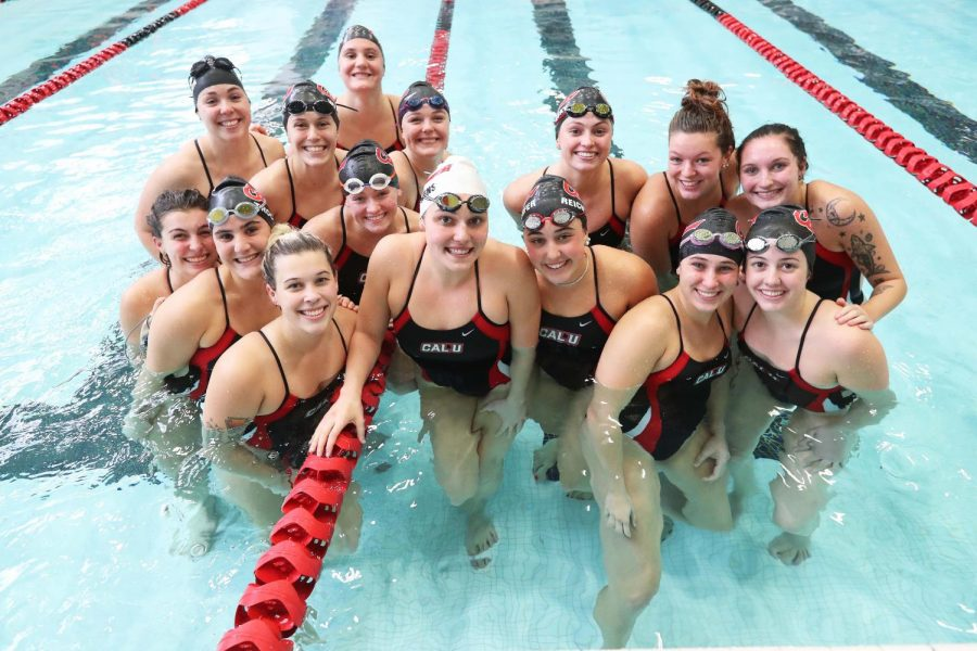 Cal U Swimming Team, Oct. 25, 2019.