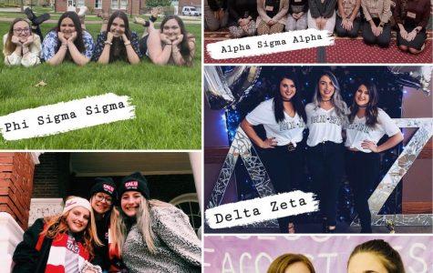 Cal U Sororities: Alpha Sigma Alpha, Alpha Sigma Tau, Delta Zeta, Phi Sigma Sigma, Sigma Kappa
