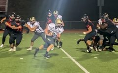 McGuffey high school junior wide receiver Brennan Shannon carries the ball during the football game against the Charleroi Cougars, Friday, Sept. 18, 2020 at Myron Pottios Stadium, Charleroi, Pa.