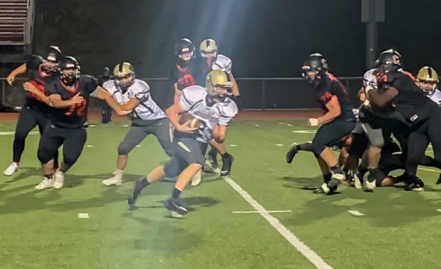 McGuffey+high+school+junior+wide+receiver+Brennan+Shannon+carries+the+ball+during+the+football+game+against+the+Charleroi+Cougars%2C+Friday%2C+Sept.+18%2C+2020+at+Myron+Pottios+Stadium%2C+Charleroi%2C+Pa.