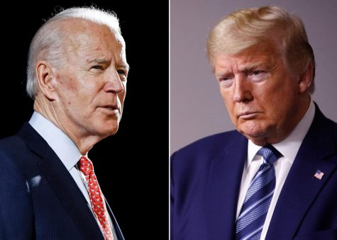 U.S. Presidential Candidates: Democratic candidate Vice President Joe Biden and Republican candidate President Donald J. Trump.