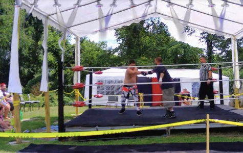 Jonathan Sakaguchi, (on left) known in the ring as